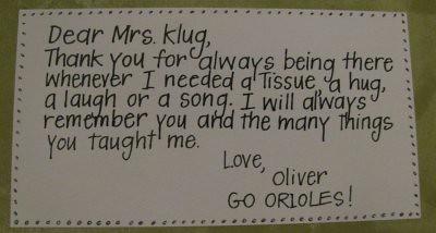 note to teacher