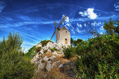 Moulin de Pallires (marcovdz) Tags: france mill windmill moulin vent provence hdr 3xp lespennesmirabeau