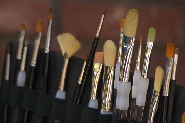 Paint Brushes Close-Up