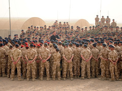 David Cameron addresses troops