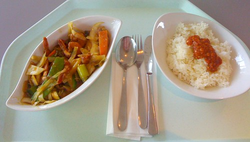 Gaeng Keaw Wan Gung Sapparod (Gebratene Garnelen / Fried prawns)