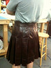 Burgundy Leather kilt