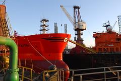 Bow Faith in Dry Dock (Gunnar Eide) Tags: ocean sea faith maritime bow tanker odfjell