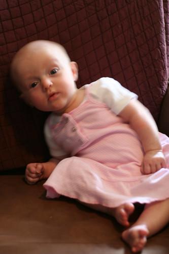 Three-Month Chair Portrait -- Slump!