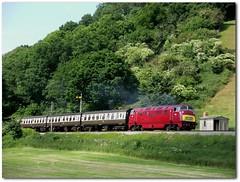 Marooned (Stapleton Road) Tags: class42 warship greyhound wiliton westsomersetrailway train railway locomotive hydraulic