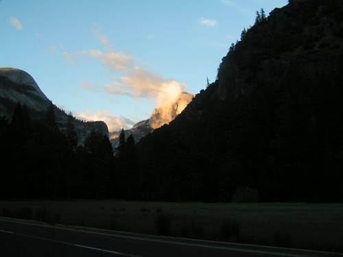 Half Dome as the Sun Sets