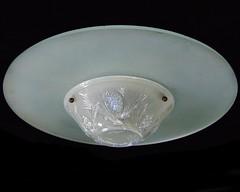Rare Jobling Fir Cone Pattern Opalescent Glass Light Fitting (kingofbananas) Tags: lighting light art glass french design 1930s cone ceiling shade fir deco frosted sunderland opalescent lustre jobling plafonnier opalique