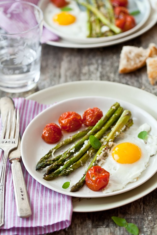 Roasted Asparagus & Tomato From The Newlywed Kitchen Cookbook