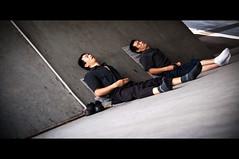 Sleeping On The Job (michaeljosh) Tags: men socks diagonal sleepinginpublic sleepingonthejob takinganap project365 tamron1750mmf28 nikond90 michaeljosh singaporestreetphotography