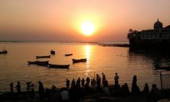 chat pooja at mumbai (anuj87) Tags: sunset india anuj mumbaisunset mumbaibeach chatpooja