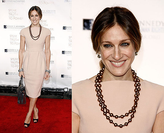Sarah Jessica Parker Chocolate Pearl Necklace by Cerise & Co.