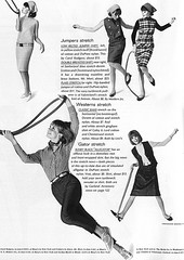 Colleen Corby 1964 stretch fabrics 1 (AngoraSox) Tags: girls friends blackandwhite fashion vintage fun exercise fashionphotography teenagers retro nostalgia denim 1960s plaid jumpers 1964 shifts vintagemagazine seventeenmagazine vintagefashions francescoscavullo sixtiesfashions colleencorby retrofashions teenfashions 1960sfashions vintagefashionmagazine seventeenmagazinefebruary1964 triangularscarves