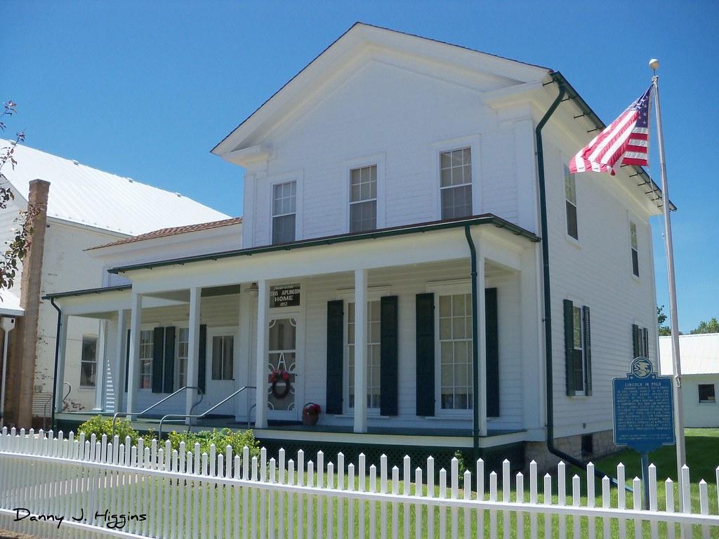 "The Zenas Aplington Home ""1853""  in Polo, Illinois.  105 2342"