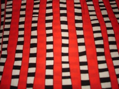 Binding for black & white & red all over