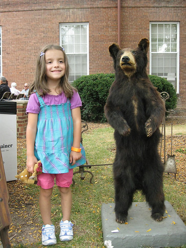 Western Reserve Academy 2010: LJ and the Bear.