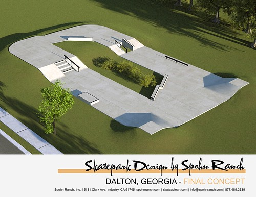 final skatepark design for dalton, georgia | Spohn Ranch