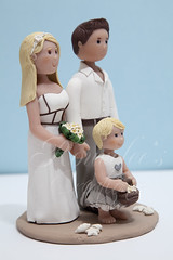 Beach Theme Wedding Cake Topper (Rouvelee's Creations) Tags: wedding beach girl seashells groom bride sand polymerclay caketopper weddingcaketopper rouvelee