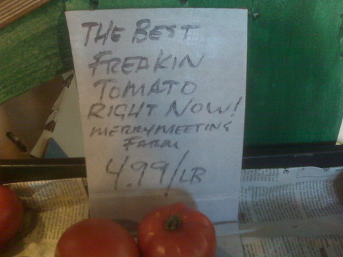 Local tomatoes in Maine