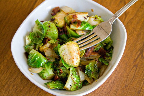 Bacon, Onion, and Brussels Sprouts - 5