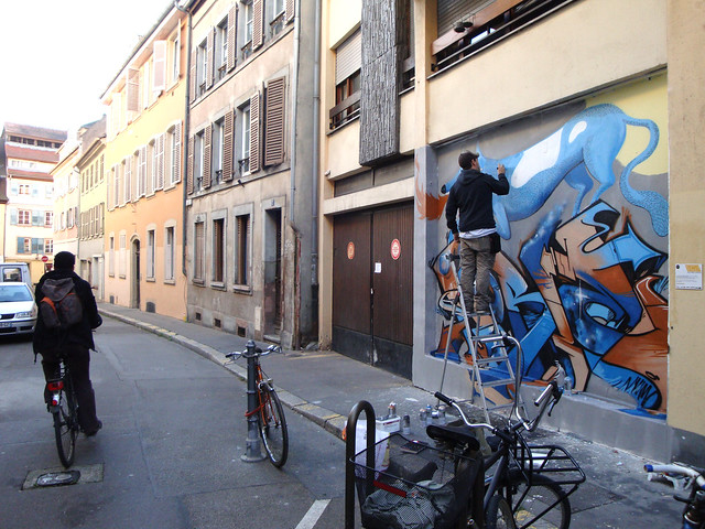 painting TWALL in Strasbourg