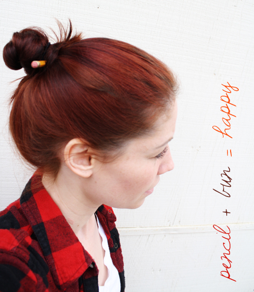 pencil + bun = happy