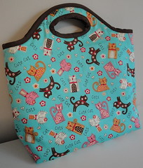 Multi Bag - Cute Cats! (Janana Machado) Tags: cats cute cutecats laptopcase notebookcase bolsapatchwork bolsadetecido cutefabric janainamachado cutebags bolsaartesanal bolsacasual