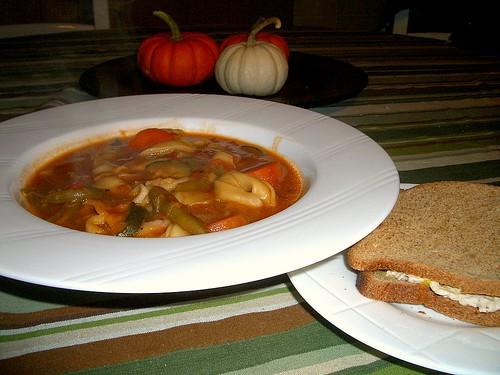 Garden Tortellini Soup