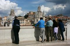 Enjoying the view (Brian Aslak) Tags: people italy rome roma buildings europe italia view vittoriano monumentonazionaleavittorioemanueleii
