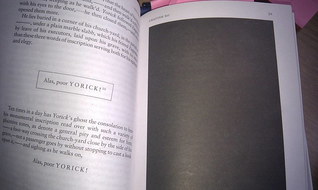 Blacked out page in Tristram Shandy