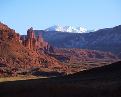 Fisher Towers and La Sal Mountains, No. 2 (Matthew Kurt Barnes) Tags: utah coloradoriver canyonlands moab lasalmountains canyoncountry grandcounty fishertower professorvalley