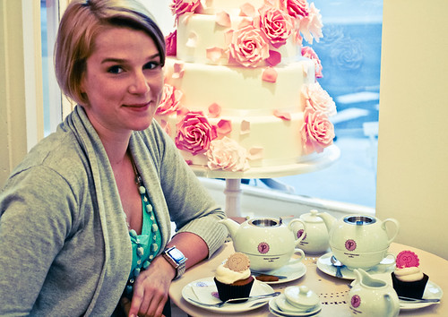 Tea & cupcakes at Peggy Porschen