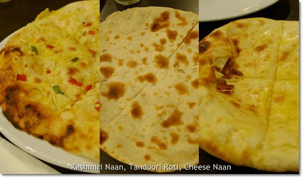 Kashmiri Naan, Tandoori Roti, Cheese Naan