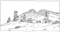 Syria, Palmyra, Tower tombs (pirlouit72) Tags: syria syrie palmyra palmyre sketch drawing dessin croquis urbansketch urbansketcher urbansketchers carnetdevoyage