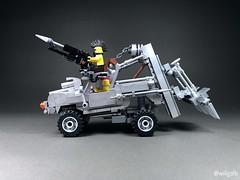 Ploughboy (willgalb) Tags: warboy furyroad madmax postapocalypse wasteland harpoon plough ploughboy truck moc lego