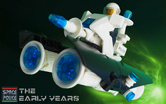 Space Police Bike (David Roberts 01341) Tags: lego spacepolice spacecraft minifigure police bike