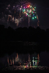 July fourth fireworks lake 2 (Noel Alvarez1) Tags: giampietro park vineland nj night photography a5000 ilce5000 fireworks fourth july 4 de julio 4th