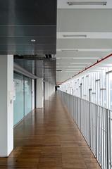 EWHA (pedro smithson) Tags: southkorea seoul nikon d5100 travel asia pedrosmithson instagram ddp architecture contemporary contemporaryarchitecture perrault dominiqueperrault interior corridor guardrail symmetrical