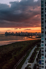View of Panama City from Costa del Este (Bernai Velarde-Light Seeker) Tags: panama city costadeleste centroamerica skyline bernai velarde urban urbano sea ocean mar oceano pacific pacifico manglares wetlands clouds dusk atardecer nubes buildings edificios apartments apartamentos costa del este