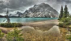 Bow Lake under Stormy Conditions (John Payzant) Tags: hdr bow banff park alberta canada lake
