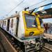 riding trains in Mumbai