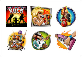 free Get Rocked slot game symbols