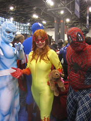 Spider-Plaid & His Amazing Friends (amber-the-stylist) Tags: comics jones costume women cosplay spiderman xmen superhero marvel comiccon angelica mutants firestar javits nycc amazingfriends misslion mslion