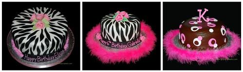 Pink Boa Zebra Birthday Cake Inspirations