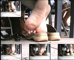Candid Footplay (RoughToughSoleMan) Tags: girls woman feet female fetish walking foot shoe high women toes play candid bare dry arches dirty barefoot heels heel rough filthy tough soles dangling cracked dipping popping calloused scrunching