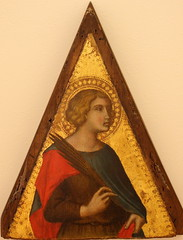 Pietro LORENZETTI, The Holy Martyr (Ondra Havala) Tags: wood art history museum canon painting gallery prague sigma galerie holy exposition national frame painter oil martyr pietro highiso lorenzetti olej malba noisereduction 2470 sternberg palc 40d canon40d ternbersk
