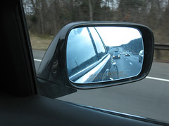 on the road..... (KaZa Photography) Tags: road friends usa black car mirror highway roadtrip traveling rearview i81 2010inphotos