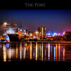 The Port HDR (Faisal!) Tags: winter sea cold ice night port frozen long exposure ship shot sweden vibrant gothenburg 15 ps line hdr natt freighter 2010 stena cs3 freez hamn kall freezed göteborgs digree