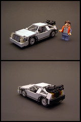 Delorean Time Machine 5-wide (Legohaulic) Tags: car lego bttf delorean timemachine