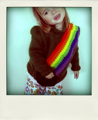 she loves her rainbow sweater