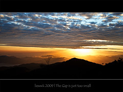 ... the gap is just too small ... (liewwk - www.liewwkphoto.com) Tags: above park morning light wild sun plant green nature fauna sunrise garden flora day natural outdoor or horizon first foliage highland malaysia genting tropical rise  pahang ascent  rainforests naturallife    liewwk